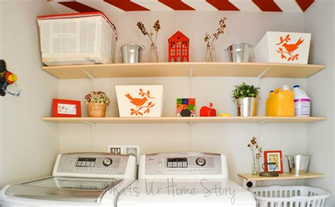 simple diy wall shelves   laundry room whats ur