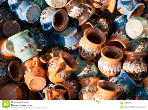 ceramics souvenir shop traditional vases royalty free stock romanian traditional pottery handcrafted mugs at a souvenir shop romanian traditional