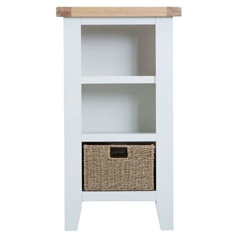 Buy Narrow Bookcase by Lighthouse Oak Small Narrow Bookcase White Buy At