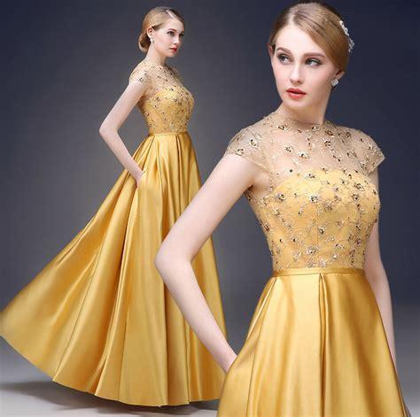 emas brokat rok panjang lengan pendek renda