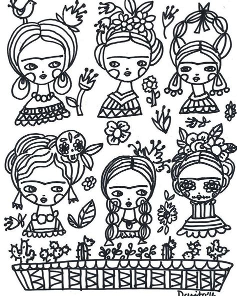 Color with #Frida and me I have a free page for you to