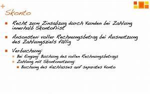Skonto Berechnen Rechnungswesen : rabatte und skonto richtig buchen youtube ~ Themetempest.com Abrechnung