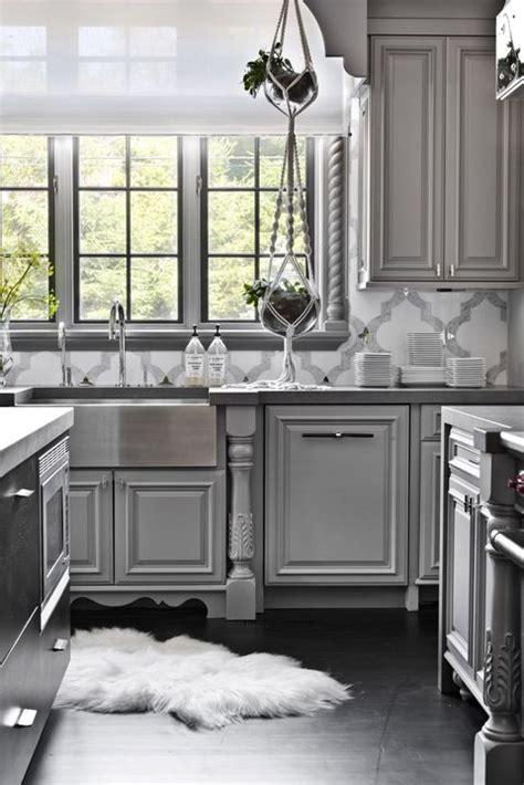 Grey Cupboards Kitchen by 14 Best Grey Kitchen Cabinets Design Ideas With Grey