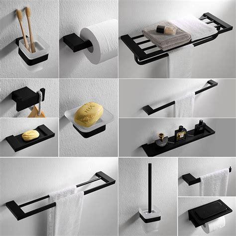 Modern Bath Hardware Set by Black Modern Style Bath Hardware Hanger Set Package Towel