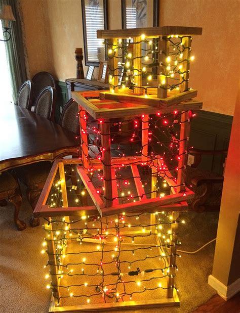 wood frame diy lighted christmas present