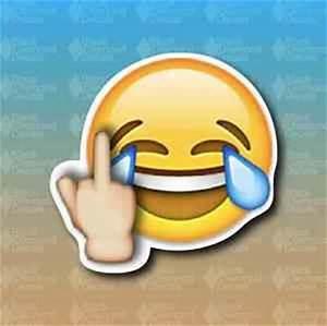 """Middle Finger Emoji Laughing Face Race Drift 4"""" Custom ..."""