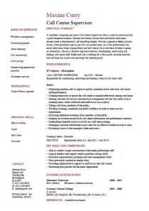 call center supervisor resume sle exle customer
