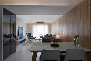 Minimalist, Apartment, Design, With, Asian, Style, Decoration