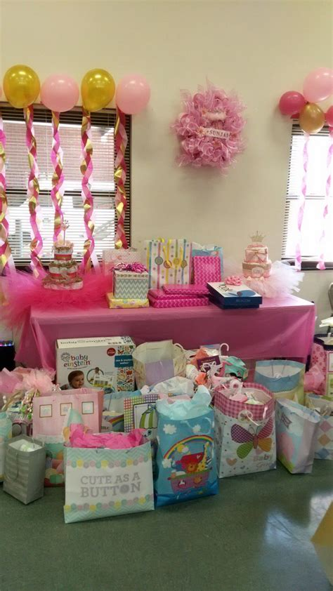 Decorating Ideas For Baby Shower Gift Table my niece s baby shower gift table simple touch