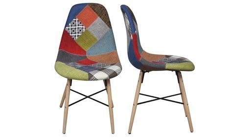 siege pour chaise haute lot de chaises scandinave patchwork groupon