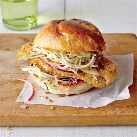 catfish slaw cornmeal sandwiches tangy dusted recipes vinegar fish jennifer recipe myrecipes cook ways cider apple flounder causey cooking snapper
