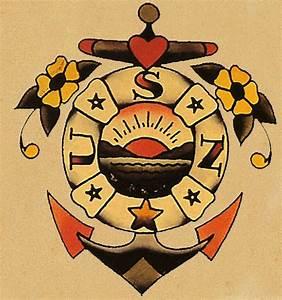 Sailor Jerry U.S.Navy Anchor tattoo flash | Old School ...