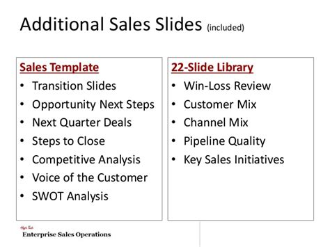 Deal Review Template by High Tech Quarterly Business Review Template