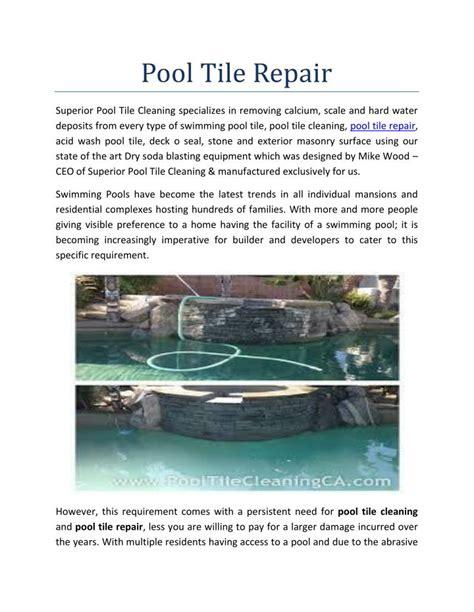ppt pool tile repair powerpoint presentation id 7352205