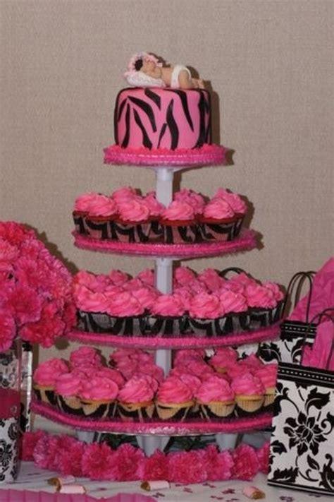 hot pink  black zebra theme baby shower cakecentralcom