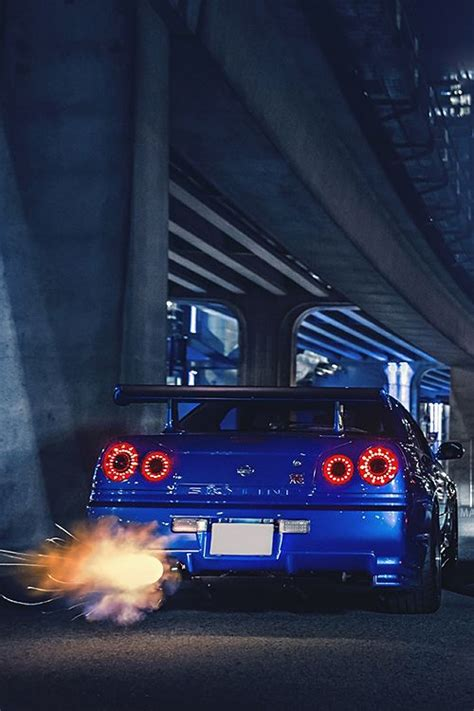 blue   awesome exauhst nissan jdm cars cars