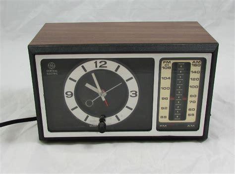 l radio alarm clock general electric vintage am fm alarm clock radio analog ge