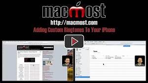 Adding Custom Ringtones To Your iPhone – MacMost