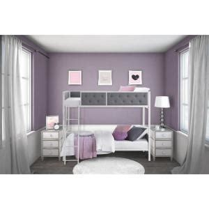 bunk beds rooms to go dhp chesterfield twin over twin bunk bed 4065119 the 18394 | white gray dhp bunk loft beds 4065119 64 300