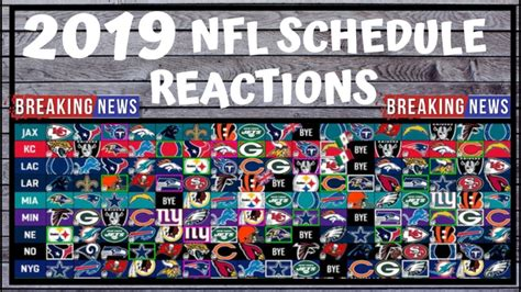 nfl schedule release preview  reactions