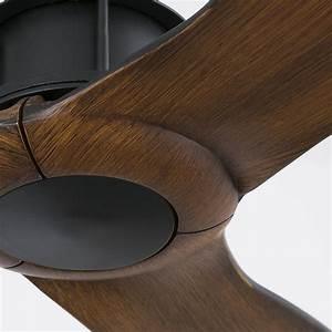 Ventilateur Plafond Bois : ventilateur plafond just fan noir bois 33395 faro ~ Premium-room.com Idées de Décoration