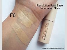 Revolution Fast Base Foundation Stick F6 Review And Swatches
