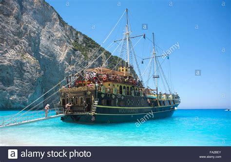 Ship Zante by Pirate Ship At Shipwreck On Zakynthos Greece Stock