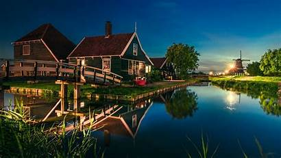 Netherlands Nature Landscape Wallpapers Water Europe Zaanse