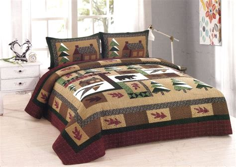 King Size Quilt And Shams by Winter Cabin Quilt American Hometex Quilts King Size