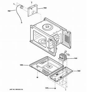 Ge Peb2060dm2ww Countertop Microwave Parts