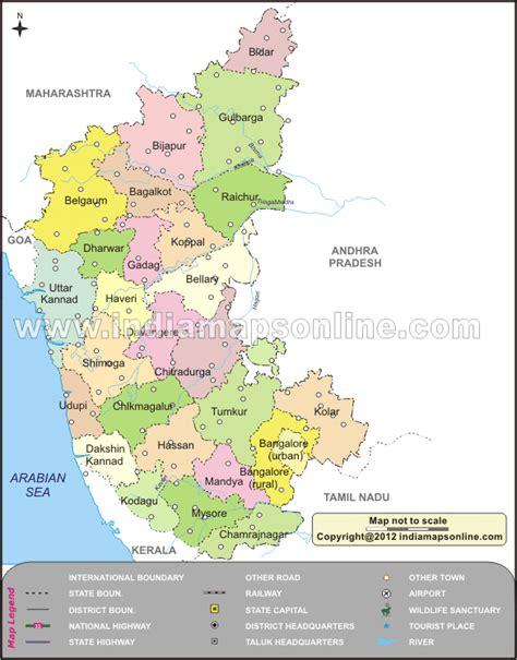 karnataka river map