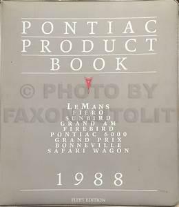 1988 Pontiac 6000 Repair Shop Manual Original