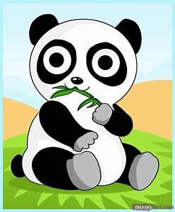 How to Draw an Anime Cartoon Baby Panda Bear