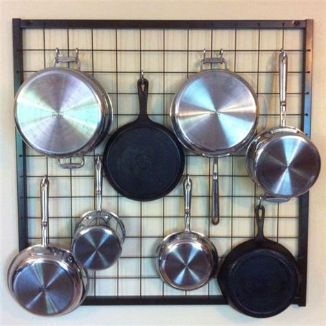 wall pot rack kitchen pans kitchen appliance storage kitchen wall hangings