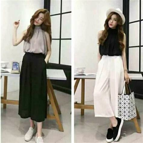 Korean terno top+pants square pants free size Preloved Womenu0026#39;s Fashion Clothes on Carousell