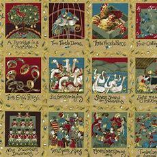 Panel  12 Days Of Christmas  Christmas Panels And Kits
