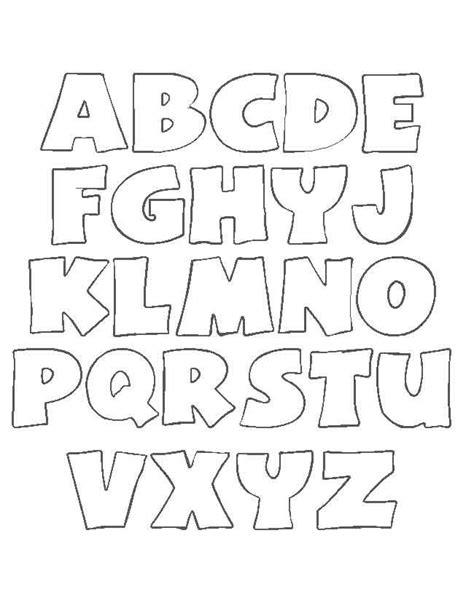 Abecedario para colorear Estilo 01 Moldes de letras