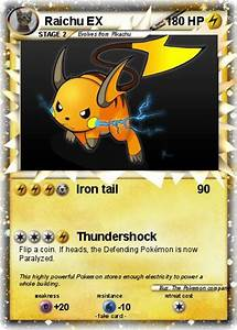 Pokémon Raichu EX 225 225 - Iron tail - My Pokemon Card