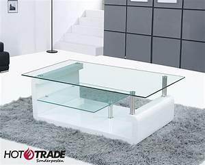 Wohnzimmertisch Weiß Hochglanz : couchtisch tisch wohnzimmertisch weiss hochglanz 2 glasplatten donald neu ovp ebay ~ Indierocktalk.com Haus und Dekorationen