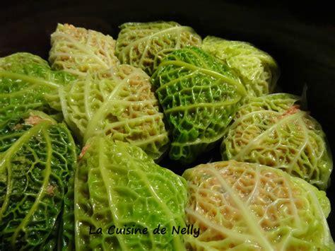 feuille cuisine feuilles de chou farcies la cuisine de nelly