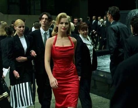 Fiona Johnson - Woman in Red - The Matrix - OMGGGGGG. Just saw this movie again and ...