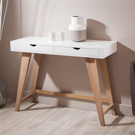 console pour chambre console en bois avec 2 tiroirs pablo kaligrafik