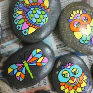 Stone Art  Piedras Pintadas A Mano  Animales  Colourful M