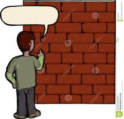 Man Talking to Brick Wall