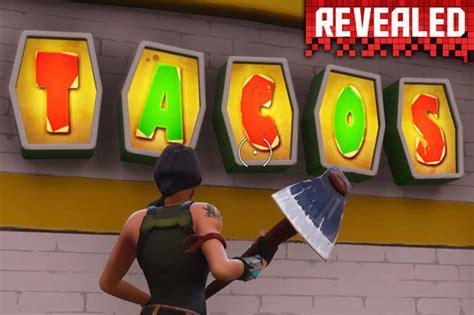 fortnite taco shops epic games battle royale week