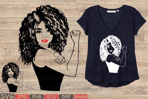 Ready in ai, svg, eps or psd. Girl Power Silhouette SVG afro youth women Black Woman ...