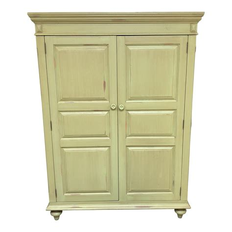 Distressed Armoires by Distressed Green Painted Wood Computer Armoire Design