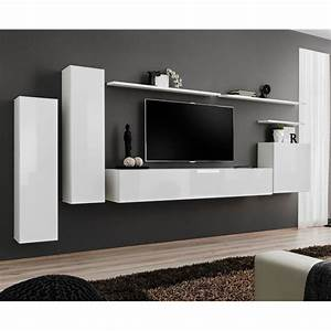 Meuble Mural Ikea : meuble tv mural design switch i 330cm blanc ~ Dallasstarsshop.com Idées de Décoration