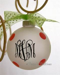 Personalize 3 letter monogrammed ornament for Monogram letter christmas ornaments