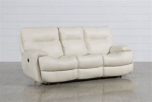 Oliver Ivory Power Reclining Sofa - Living Spaces